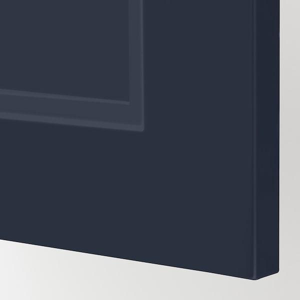 METOD Wall cabinet horizontal w push-open, white Axstad/matt blue, 80x40 cm