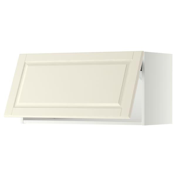 METOD Wall cabinet horizontal w push-open, white/Bodbyn off-white, 80x40 cm