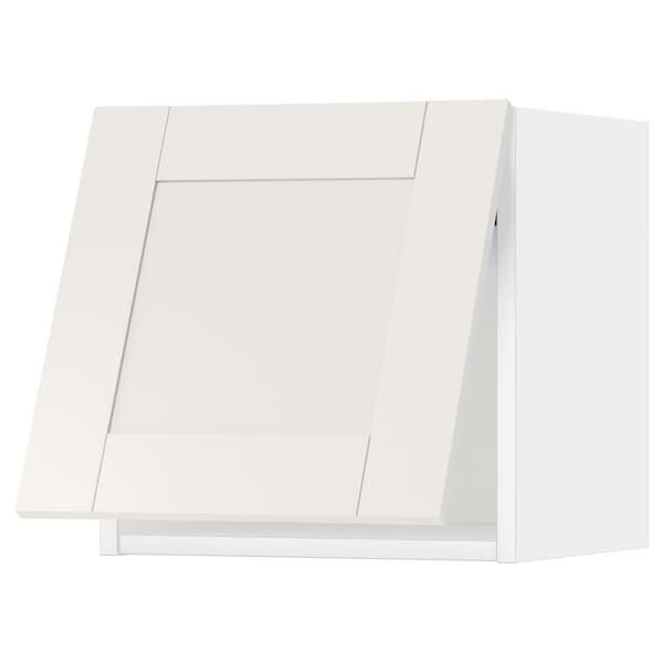 METOD Wall cabinet horizontal w push-open, white/Sävedal white, 40x40 cm