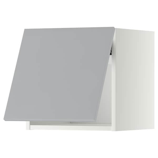 METOD Wall cabinet horizontal w push-open, white/Veddinge grey, 40x40 cm