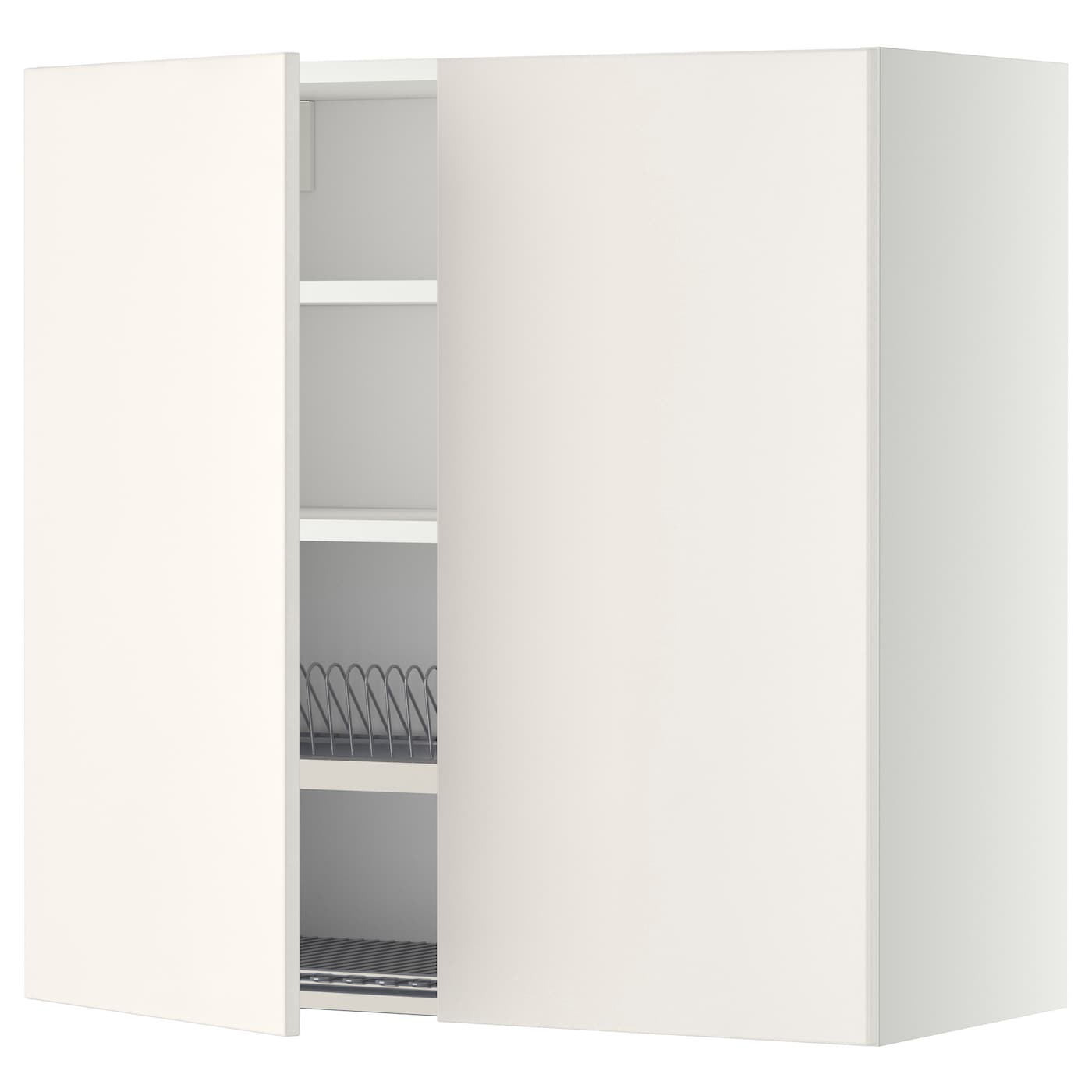 metod wall cabinet w dish drainer 2 doors white veddinge. Black Bedroom Furniture Sets. Home Design Ideas