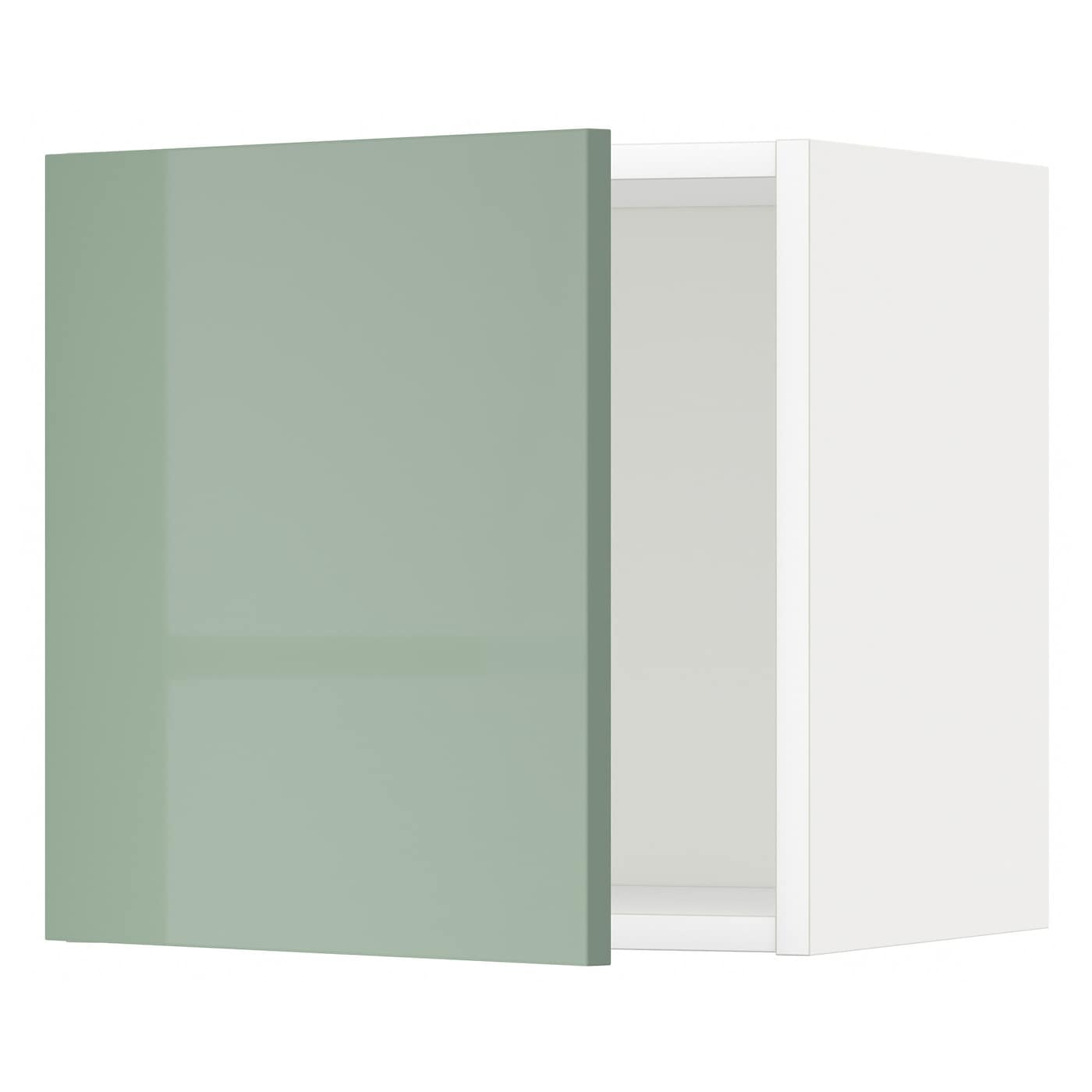 metod wall cabinet white kallarp light green 40x40 cm ikea. Black Bedroom Furniture Sets. Home Design Ideas