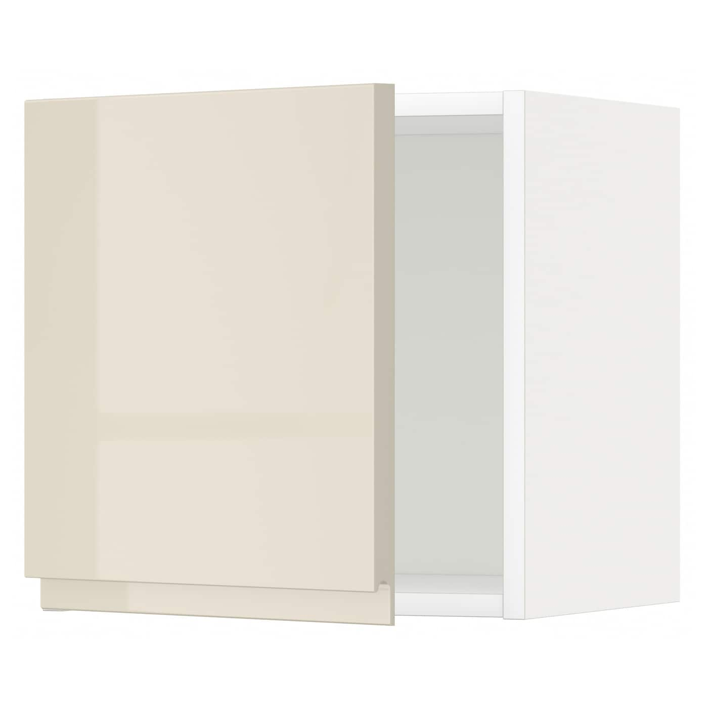 Metod wall cabinet white voxtorp high gloss light beige for Gloss white kitchen wall cabinets