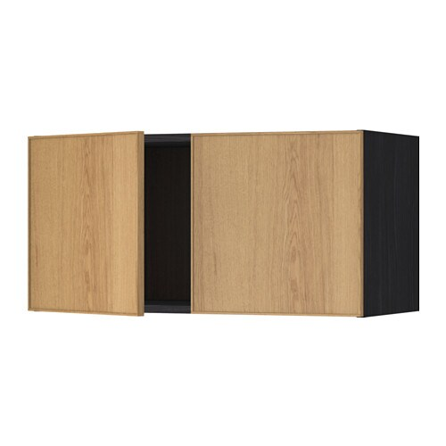 IKEA METOD wall cabinet with 2 doors Sturdy frame construction, 18 mm thick.
