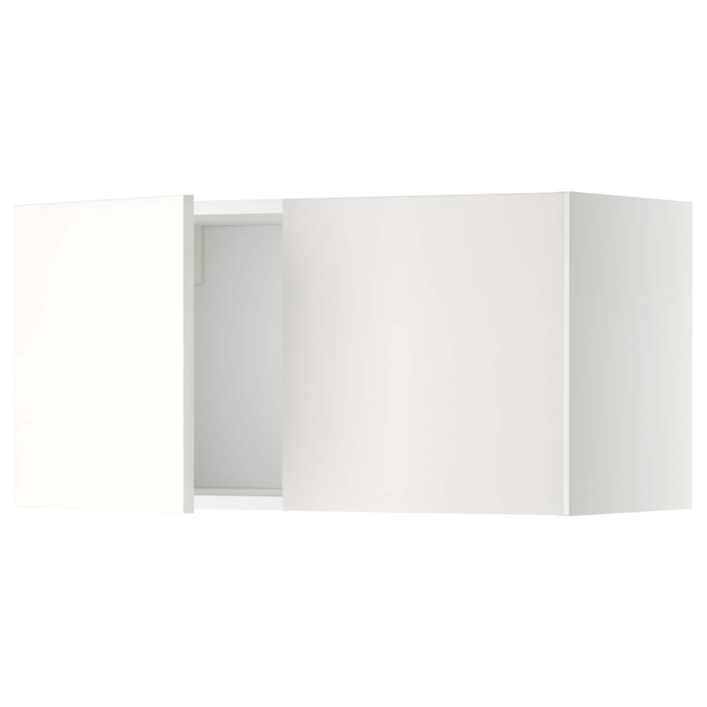 Metod wall cabinet with 2 doors white h ggeby white 80x40 for Mueble 80x40