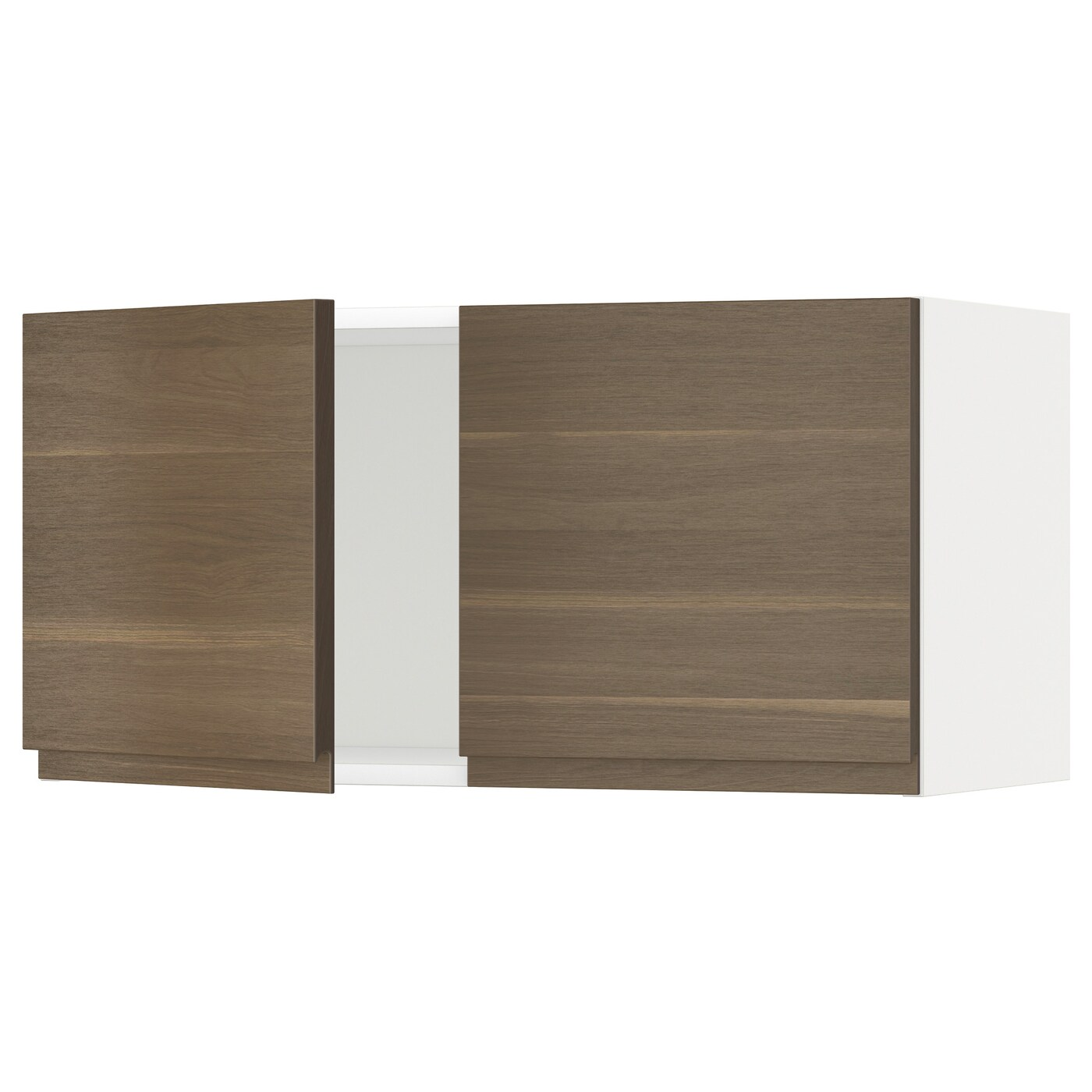 Metod Wall Cabinet With 2 Doors White Voxtorp High Gloss: METOD Wall Cabinet With 2 Doors White/voxtorp Walnut 80 X