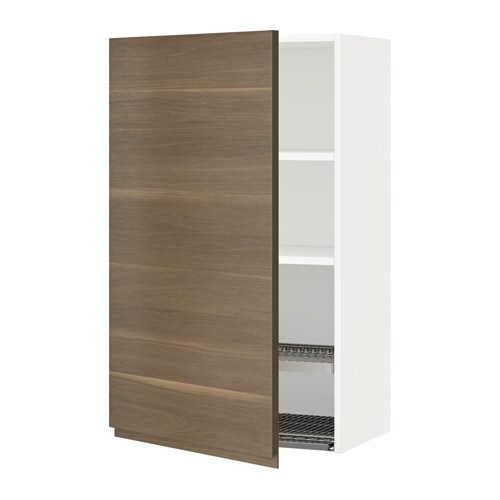 Metod Wall Cabinet With Dish Drainer White Voxtorp Walnut