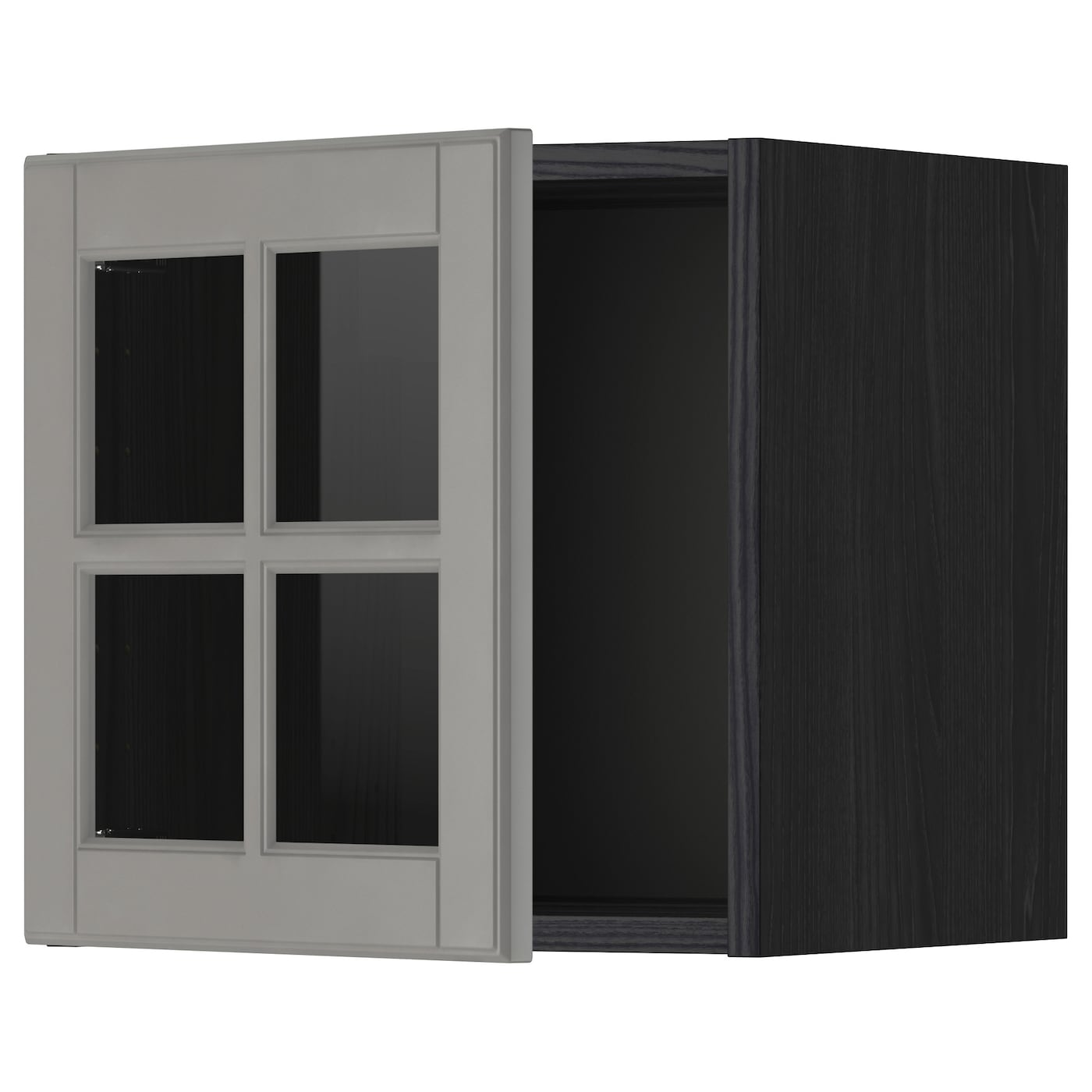 Metod Wall Cabinet With Glass Door Blackbodbyn Grey 40 X 40 Cm Ikea