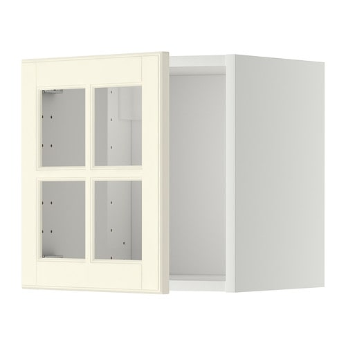 Metod Ikea metod wall cabinet with glass door white bodbyn white 40x40 cm
