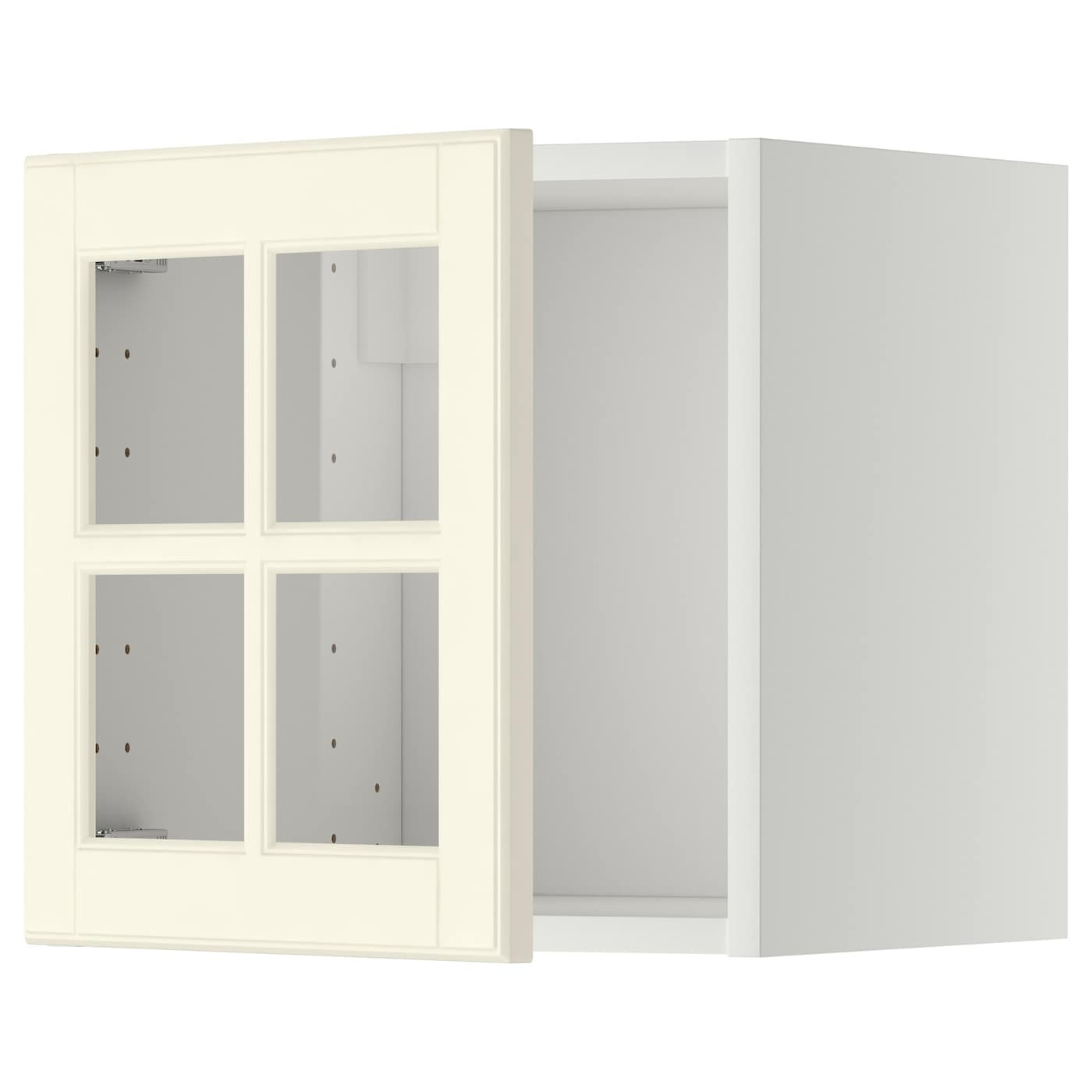Metod Wall Cabinet With Glass Door Whitebodbyn Off White 40 X 40 Cm