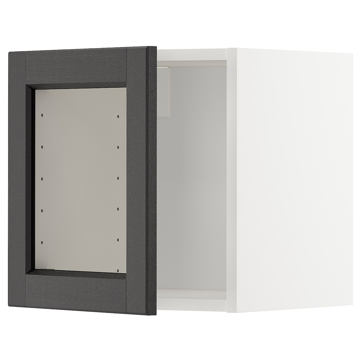 Metod Wall Cabinet With Glass Door Whitelerhyttan Black Stained 40