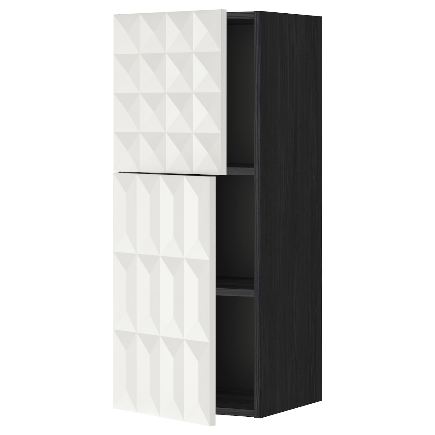 IKEA METOD wall cabinet with shelves/2 doors Sturdy frame construction, 18 mm thick.