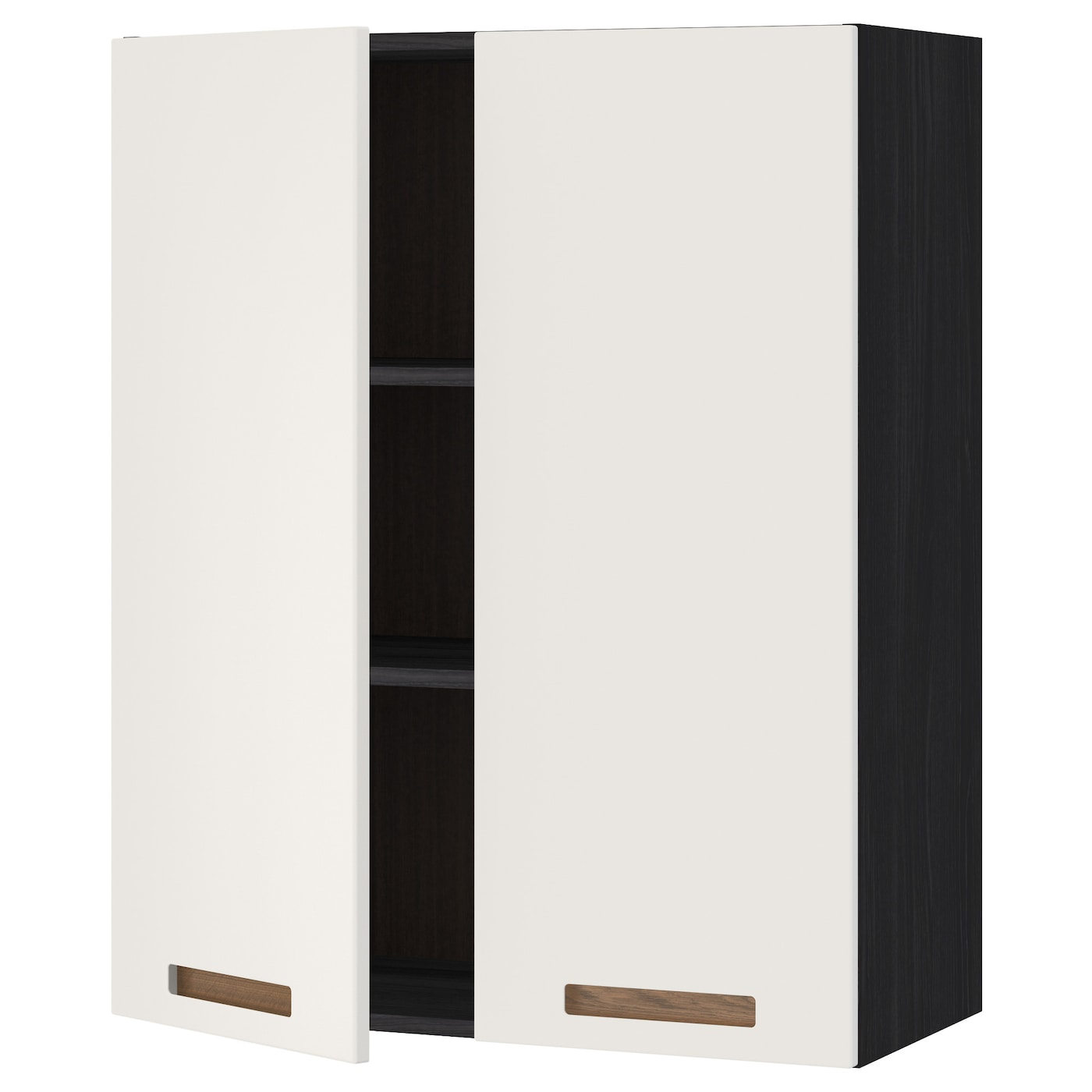 metod wall cabinet with shelves 2 doors black m rsta white. Black Bedroom Furniture Sets. Home Design Ideas