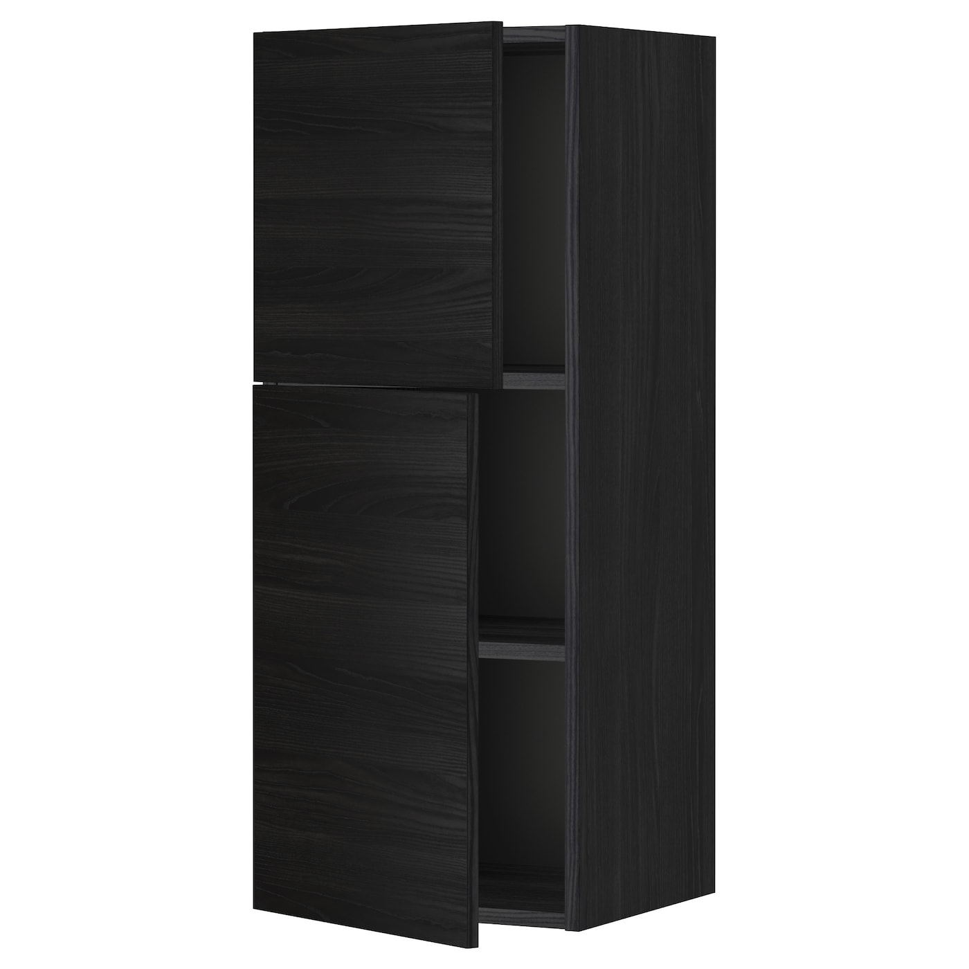 metod wall cabinet with shelves 2 doors black tingsryd. Black Bedroom Furniture Sets. Home Design Ideas