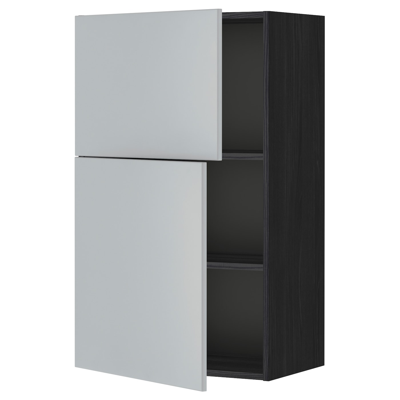 Metod Wall Cabinet With Shelves 2 Doors Black Veddinge