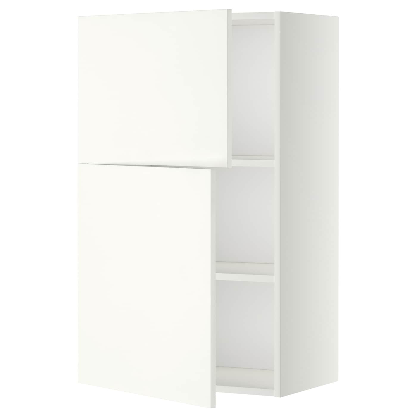 metod wall cabinet with shelves 2 doors white h ggeby. Black Bedroom Furniture Sets. Home Design Ideas