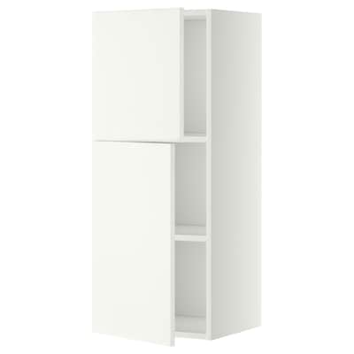 METOD wall cabinet with shelves/2 doors white/Häggeby white 40.0 cm 38.6 cm 100.0 cm