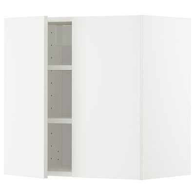 METOD wall cabinet with shelves/2 doors white/Häggeby white 60.0 cm 38.6 cm 60.0 cm
