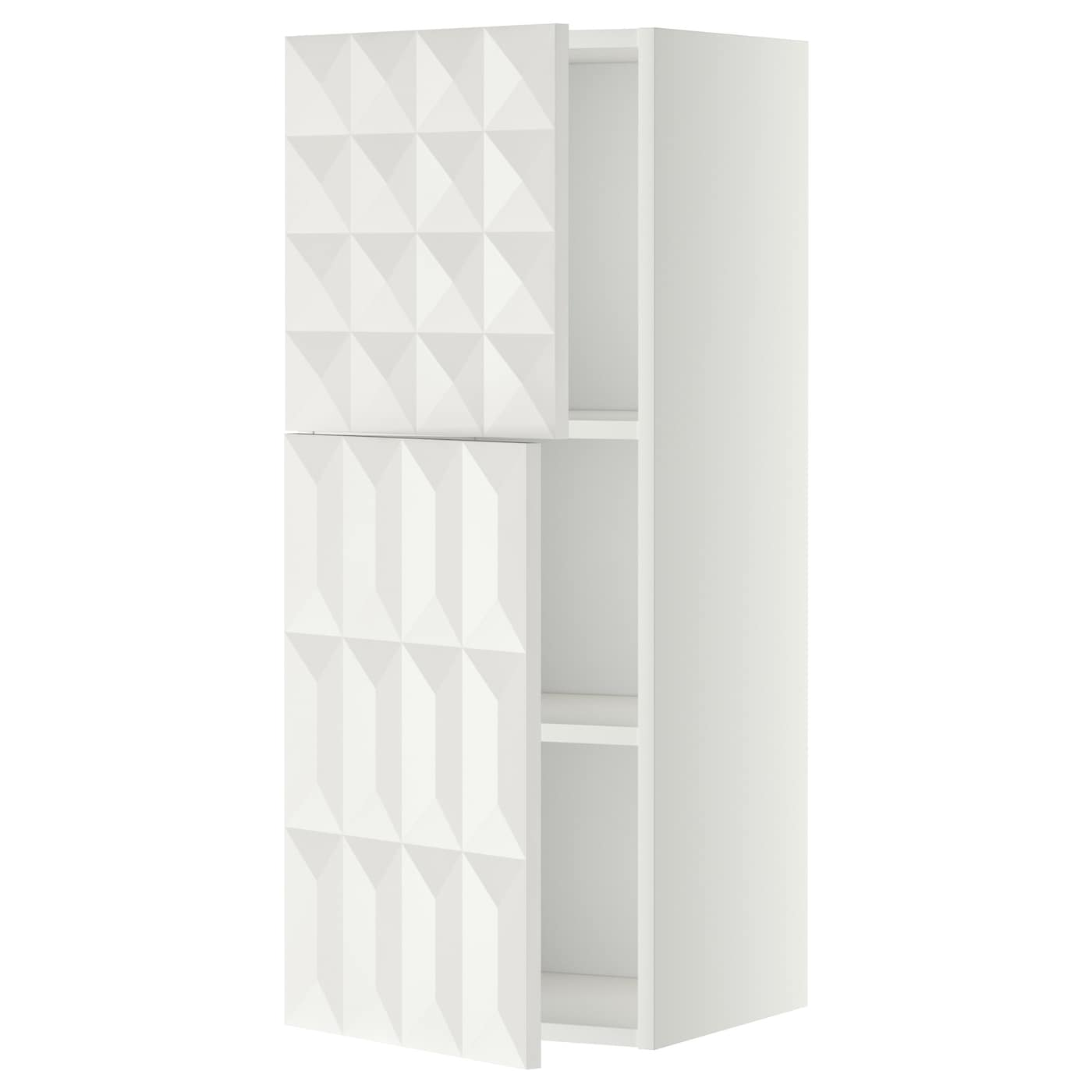 metod wall cabinet with shelves 2 doors white herrestad. Black Bedroom Furniture Sets. Home Design Ideas