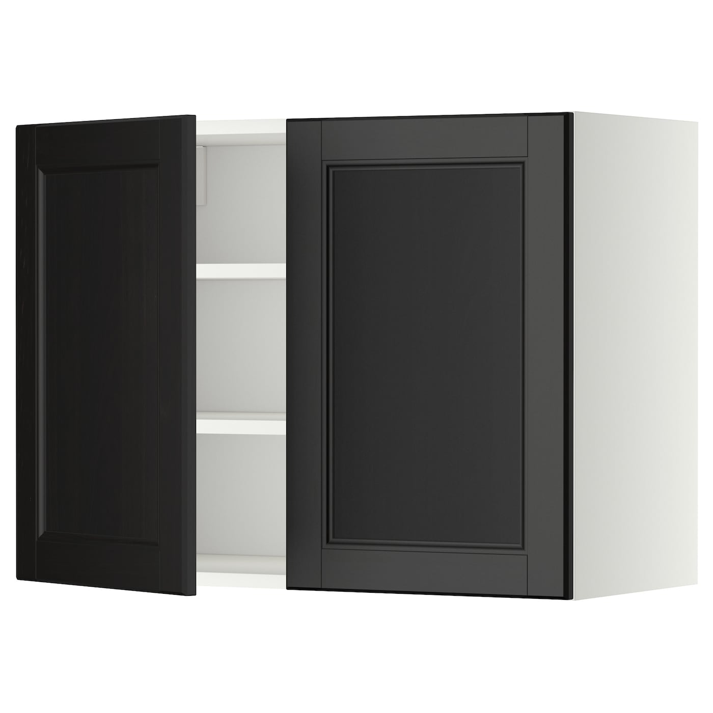 Metod Wall Cabinet With Shelves 2 Doors White Laxarby