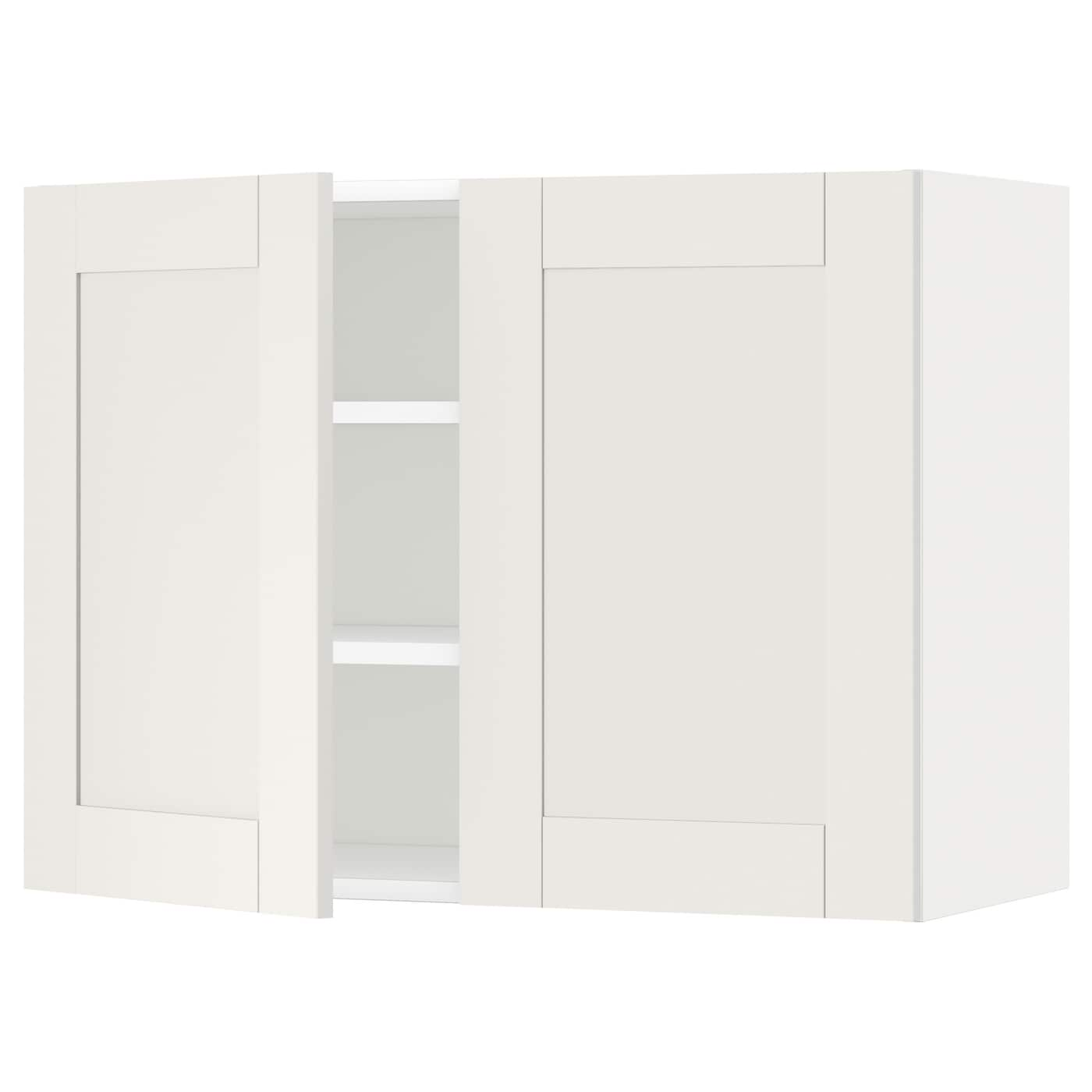 metod wall cabinet with shelves 2 doors white s vedal white 80x60 cm ikea. Black Bedroom Furniture Sets. Home Design Ideas