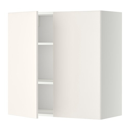 Ikea Metod Wall Cabinet With Shelves 2 Doors Sy Frame Construction 18 Mm Thick