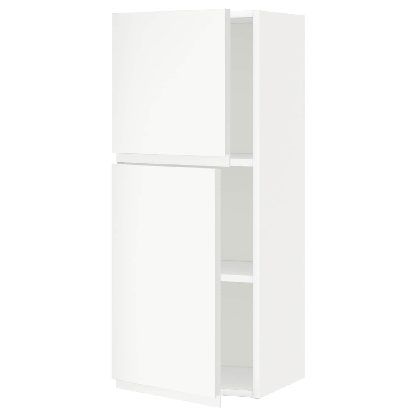 Metod Wall Cabinet With 2 Doors White Voxtorp High Gloss: METOD Wall Cabinet With Shelves/2 Doors White/voxtorp Matt