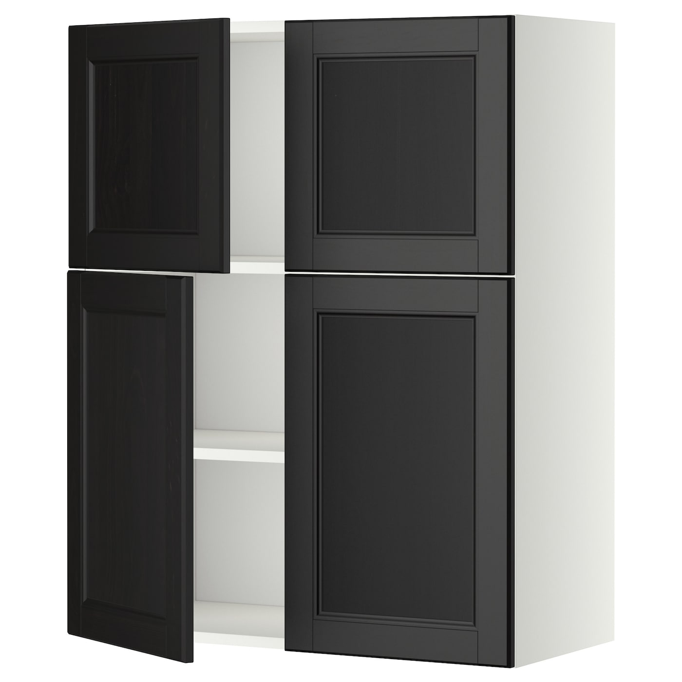 Metod Wall Cabinet With Shelves 4 Doors White Laxarby