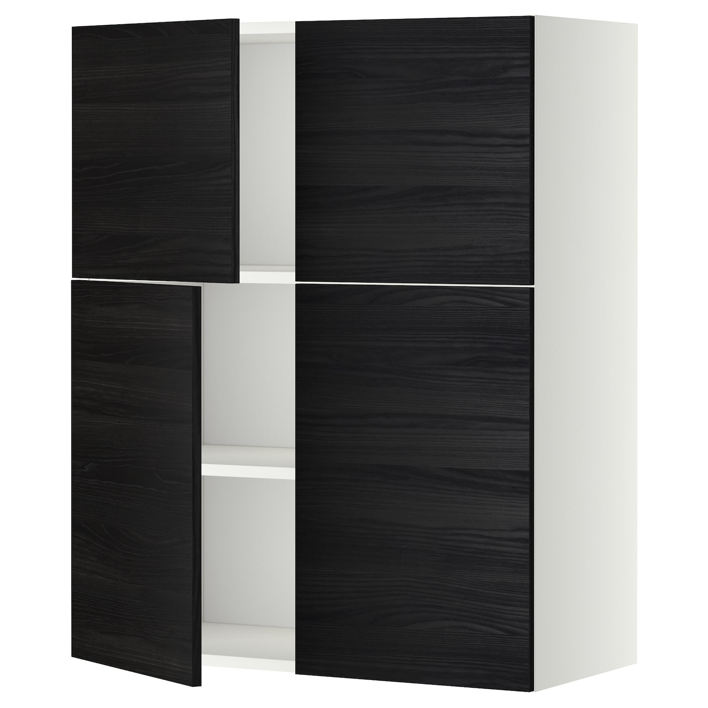 metod wall cabinet with shelves 4 doors white tingsryd. Black Bedroom Furniture Sets. Home Design Ideas