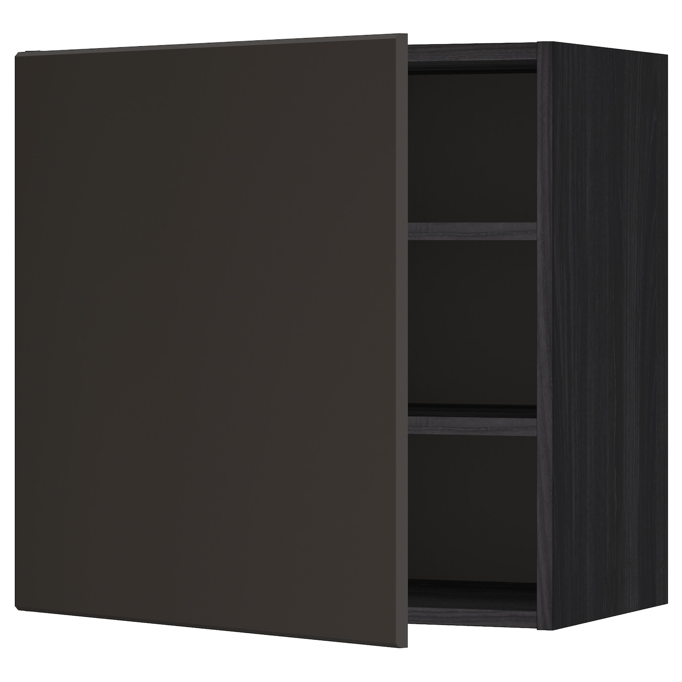 Metod Wall Cabinet With Shelves: METOD Wall Cabinet With Shelves Black/kungsbacka