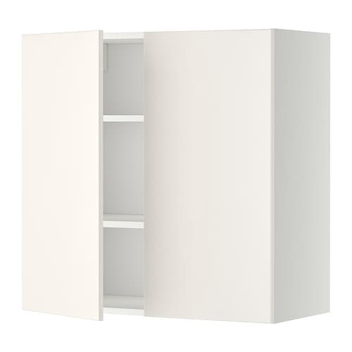 Metod Wall Cabinet With Shelves 2 Doors White Veddinge