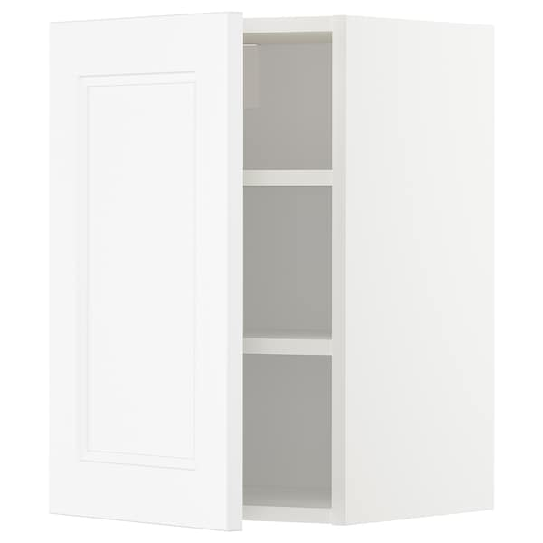 METOD Wall cabinet with shelves, white/Axstad matt white, 40x60 cm