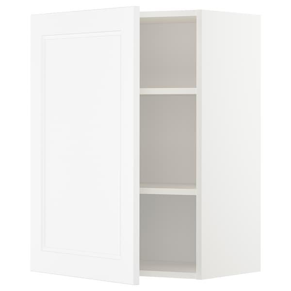METOD Wall cabinet with shelves, white/Axstad matt white, 60x80 cm