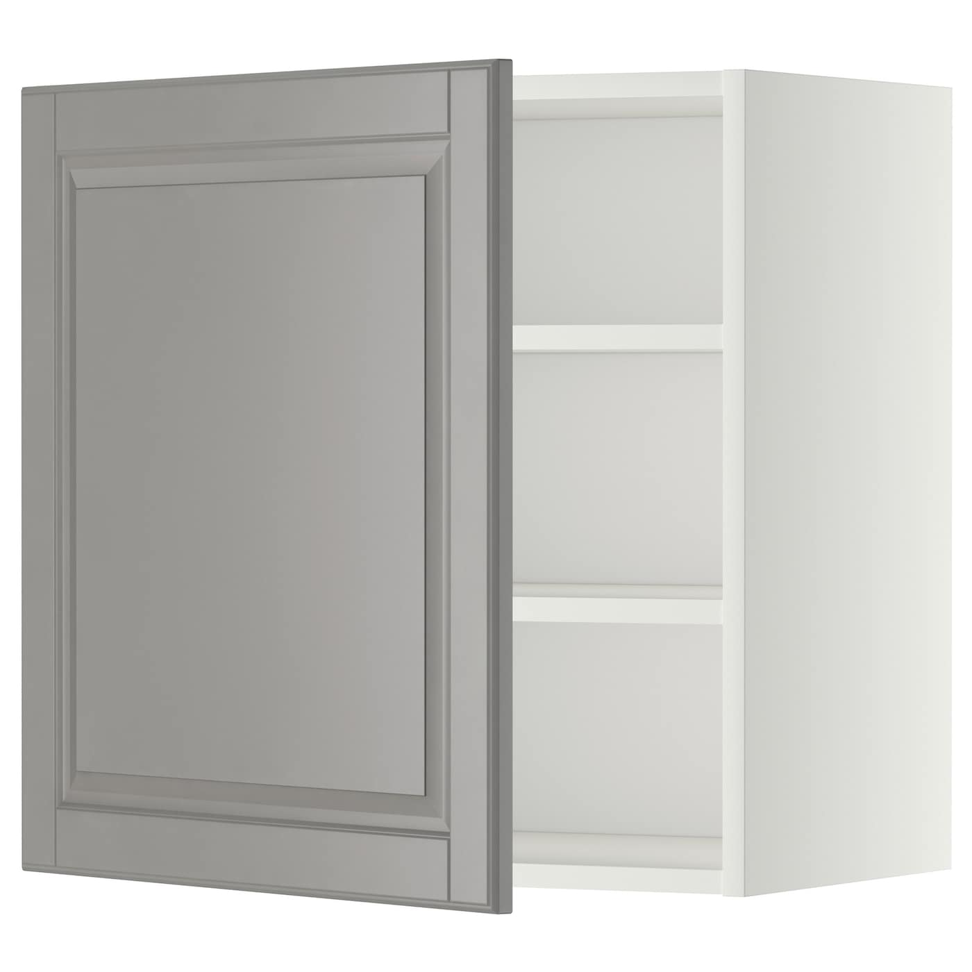 Metod Wall Cabinet With Shelves: METOD Wall Cabinet With Shelves White/bodbyn Grey 60 X 60
