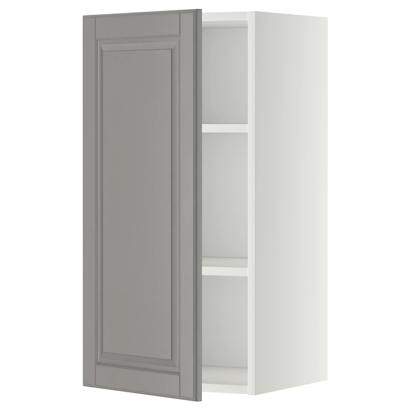 Metod Wall Cabinet With Shelves: METOD Wall Cabinet With Shelves White/bodbyn Grey 40 X 80