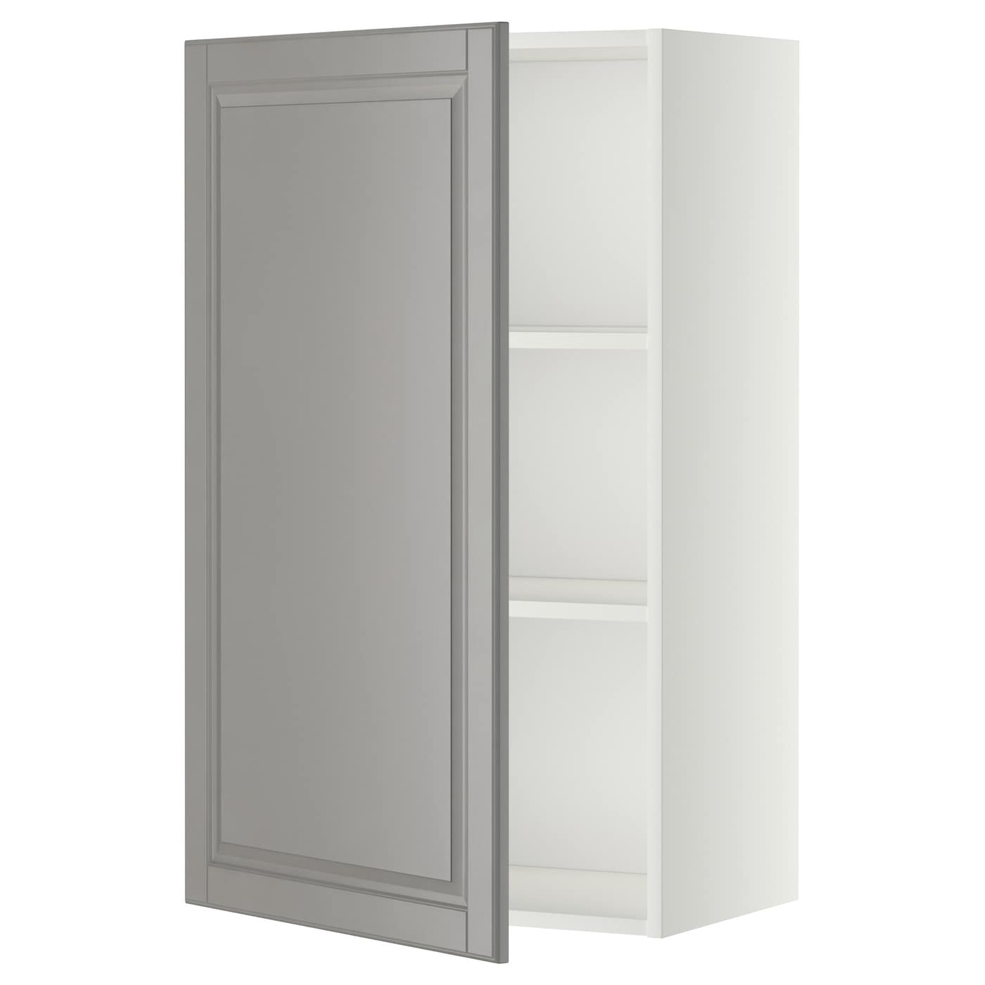 Metod Wall Cabinet With Shelves: METOD Wall Cabinet With Shelves White/bodbyn Grey 60 X 100