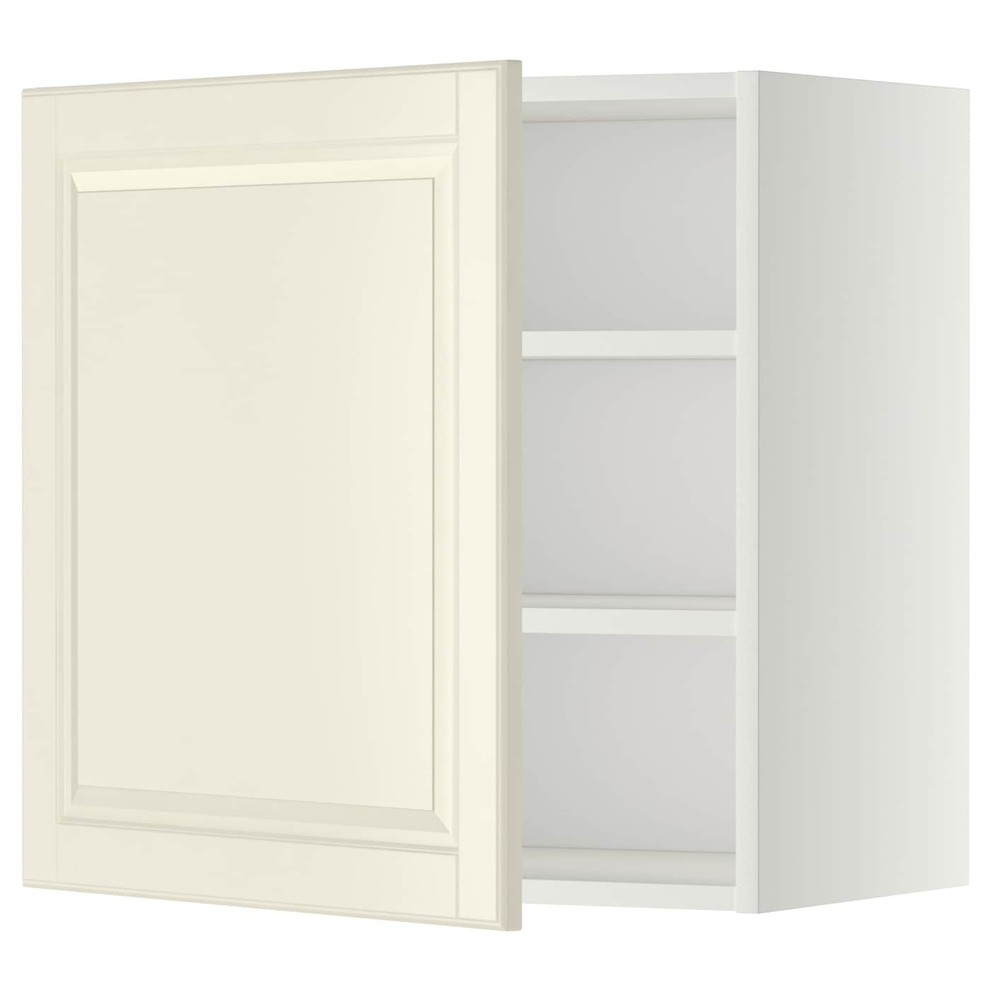 Metod wall cabinet with shelves white bodbyn off white for Off the shelf kitchen units