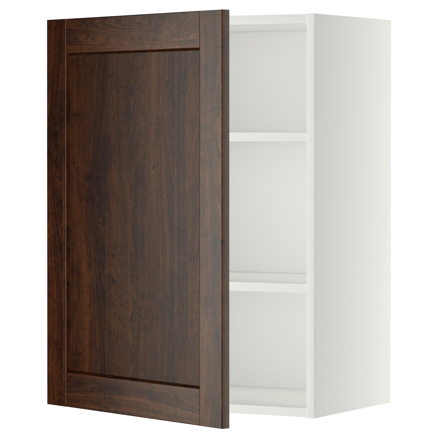 Metod Wall Cabinet With Shelves White Edserum Brown 60x80