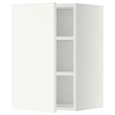 METOD wall cabinet with shelves white/Häggeby white 40.0 cm 38.6 cm 60.0 cm
