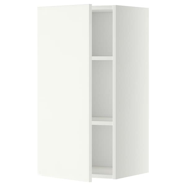METOD Wall cabinet with shelves, white/Häggeby white, 40x80 cm
