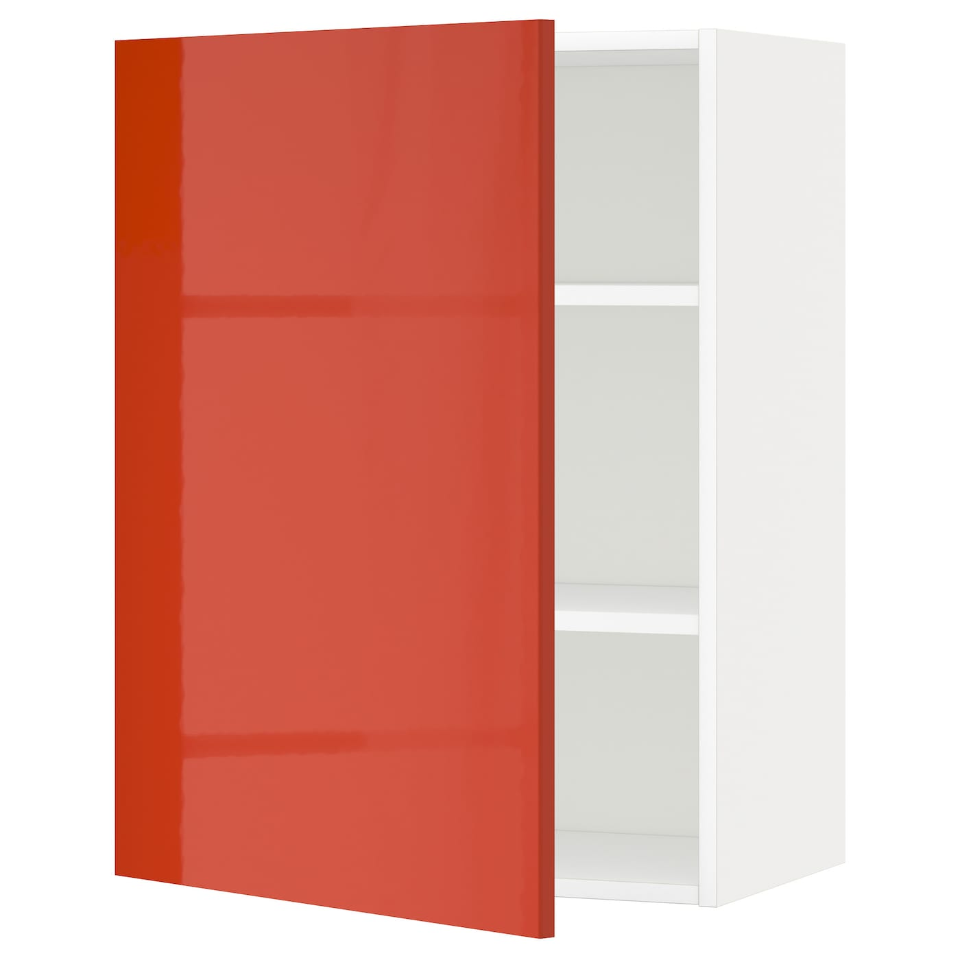 METOD Wall cabinet with shelves Whitejärsta orange 60×80