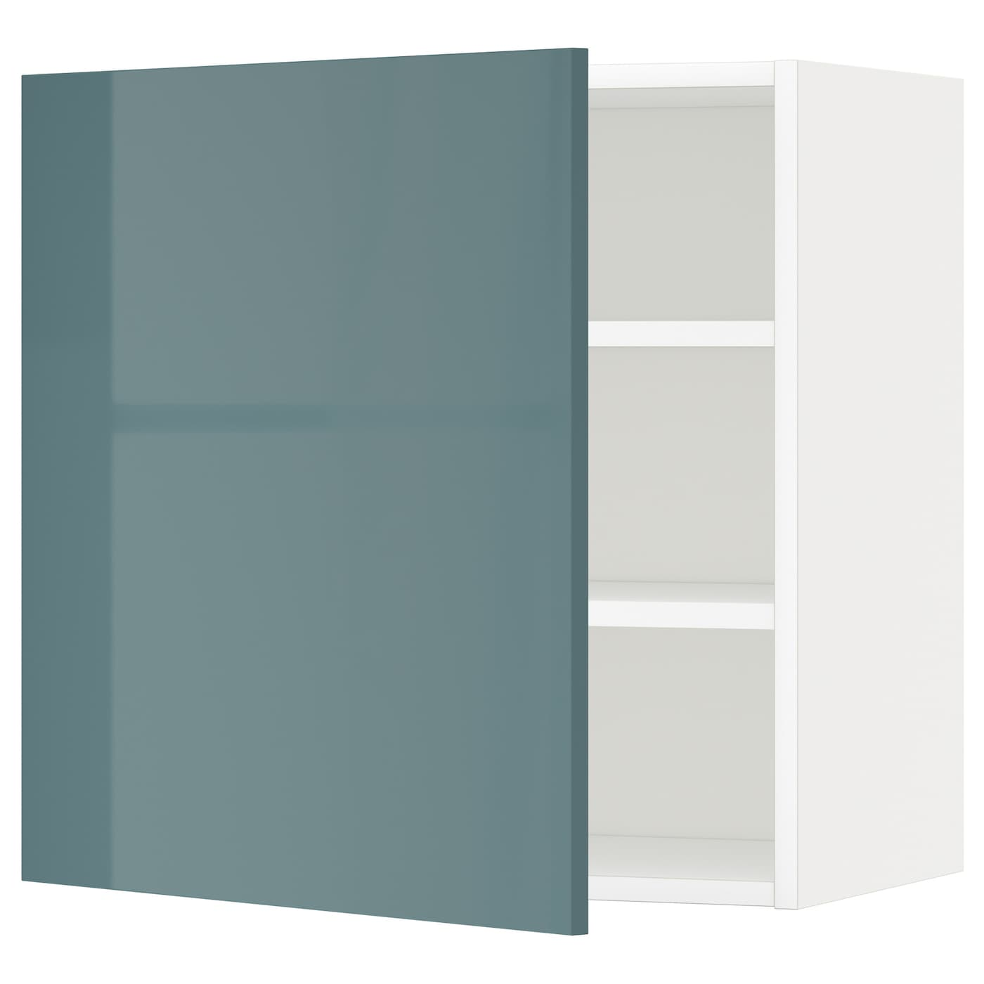 #4F6A6E  Wall Cabinet With Shelves White/kallarp Grey Turquoise 60x60 Cm IKEA with 2000x2000 px of Recommended Ikea Grey Shelf 20002000 save image @ avoidforclosure.info