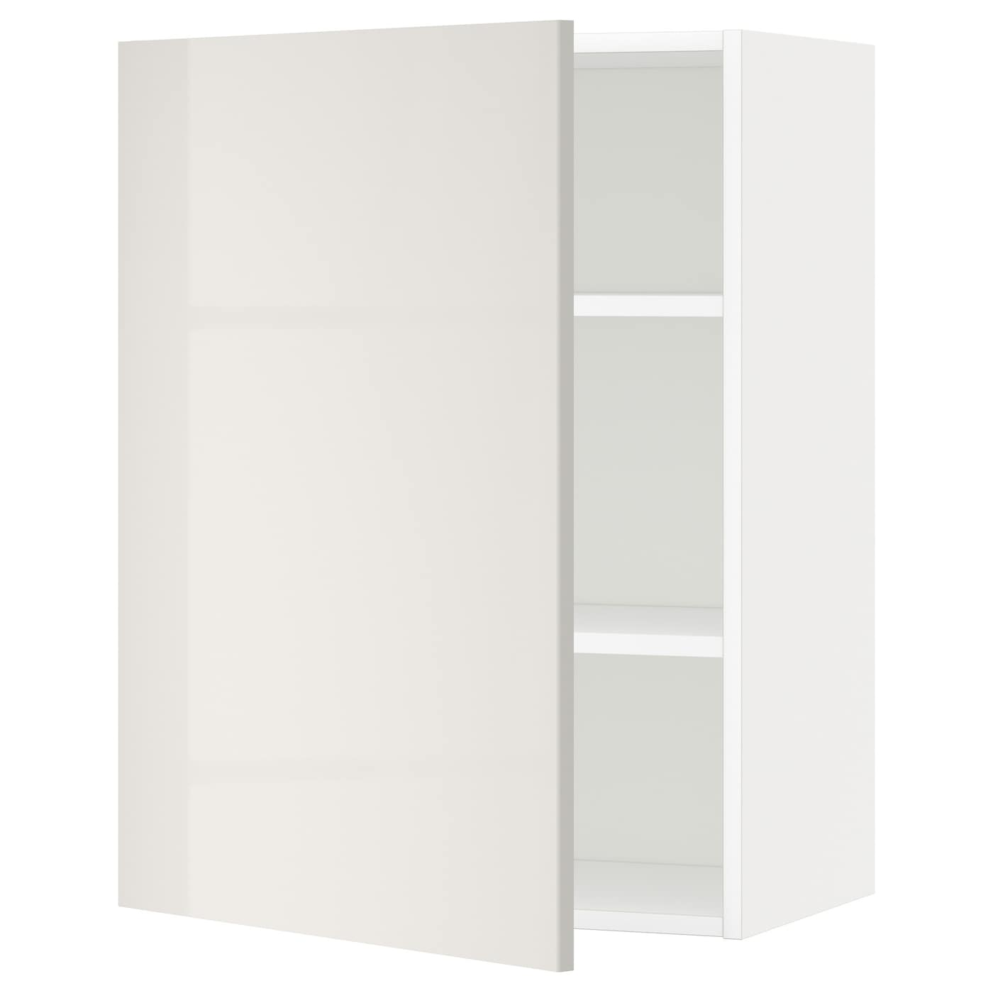 METOD Wall Cabinet With Shelves White/ringhult Light Grey