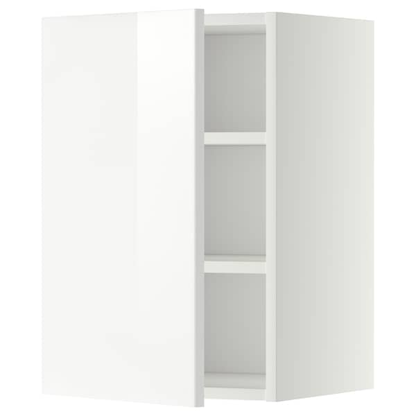 METOD Wall cabinet with shelves, white/Ringhult white, 40x60 cm