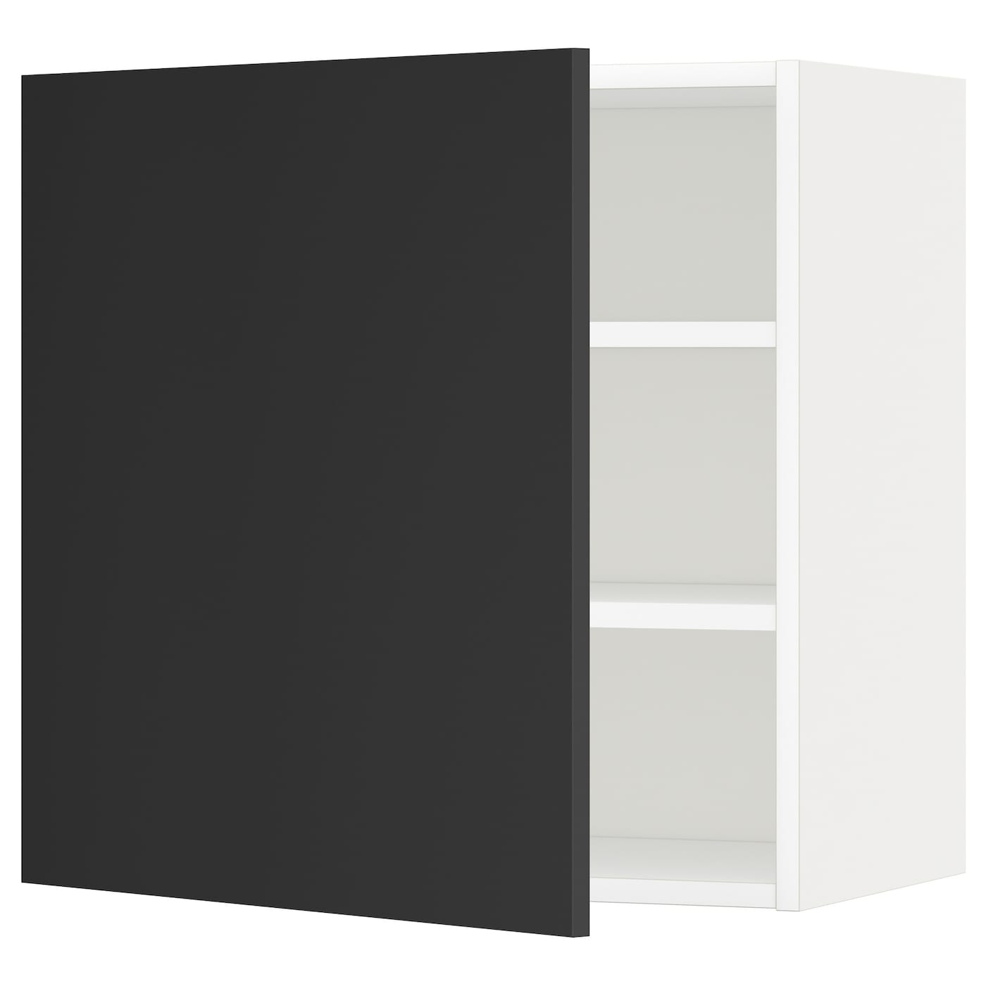 IKEA METOD wall cabinet with shelves You can choose to mount the door on the right or left side.