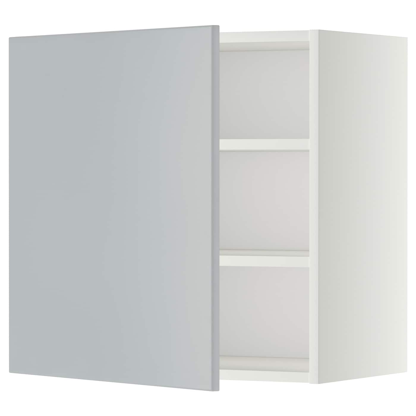 Metod Wall Cabinet With Shelves: METOD Wall Cabinet With Shelves White/veddinge Grey 60 X