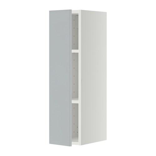 Metod wall cabinet with shelves white veddinge grey 20x80 - Mobili cucina profondita 50 cm ikea ...