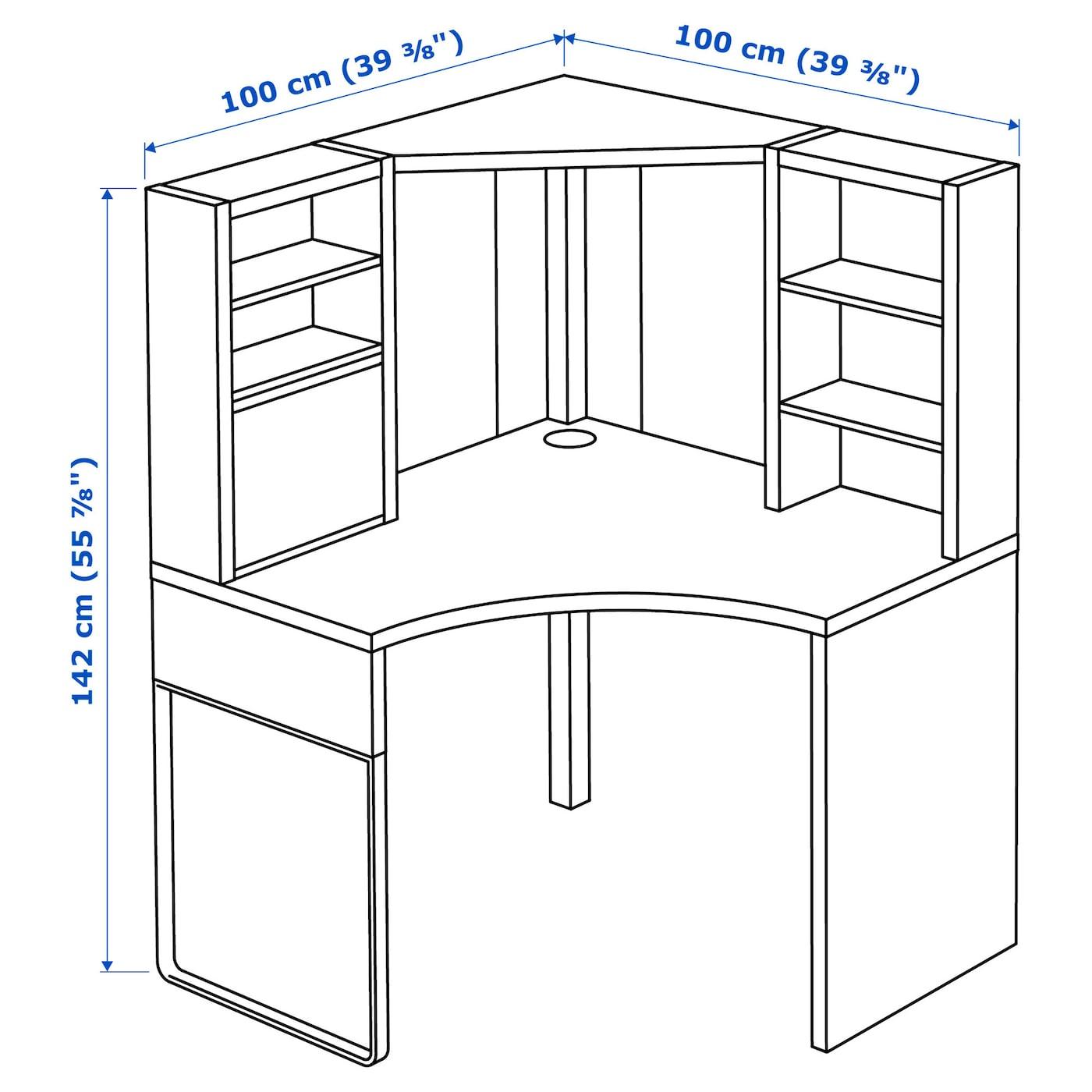 Corner Computer Desk Home Workstation Unit Storage Drawer Shelf Console Table
