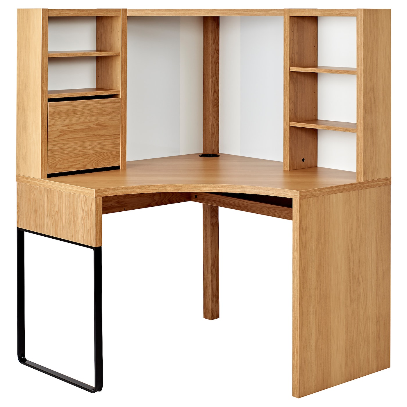 MICKE oak effect, Corner workstation, 100x141 cm - IKEA