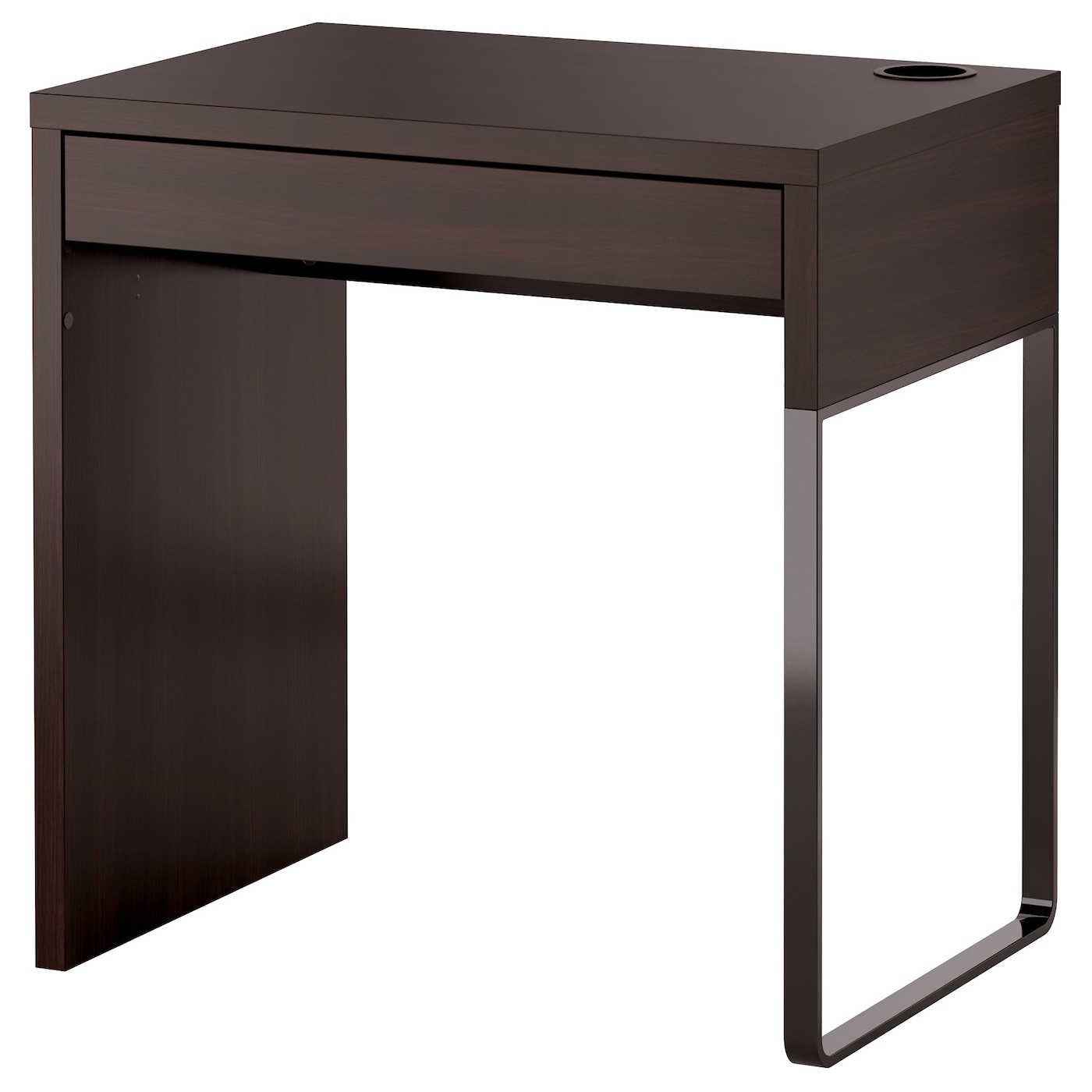 Micke desk black brown 73x50 cm ikea for Ikea desk black